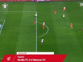 Ivan Rakitic fez um dos gols da classificação do Sevilla às quartas da Copa do Rei. DUGOUT