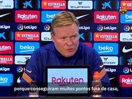 Ronald Koeman concedeu entrevista e pediu uma concentração especial para o Barcelona. DUGOUT