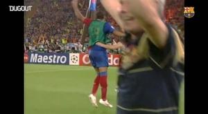 Le FC Barcelone célèbre son titre européen de 2009. DUGOUT