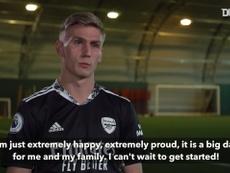 Alex Rúnarsson's first interview as an Arsenal player. DUGOUT