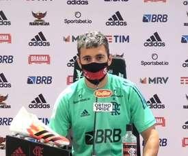 Arrascaeta comentou diferentes aspectos do time do Flamengo. DUGOUT
