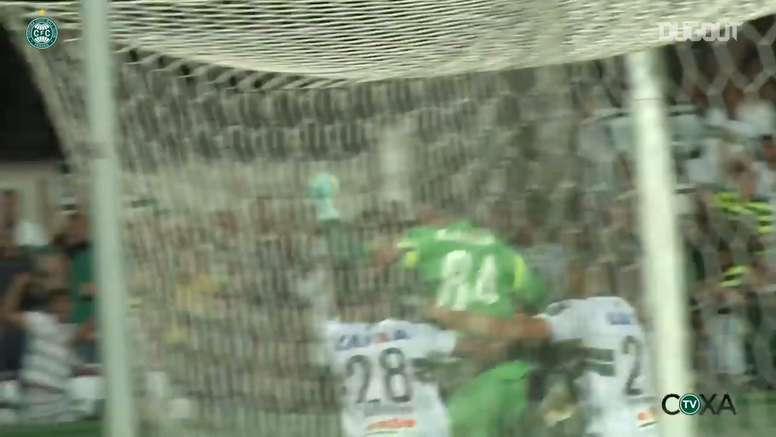 Goalkeeper Wilson rescued a point for Coritiba back in 2016. DUGOUT