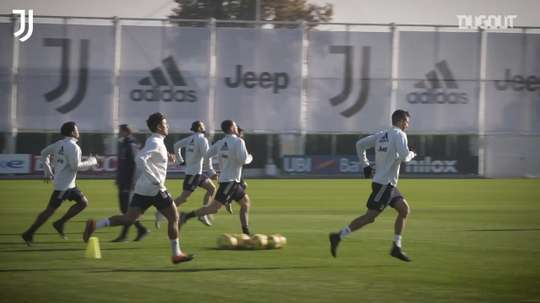 Juventus' training session before Benevento clash. DUGOUT