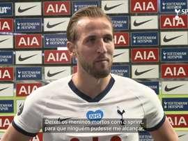 Kane vibra com forma física após voltar a marcar pelo Tottenham. DUGOUT