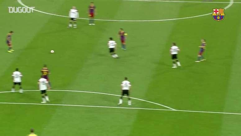 La rete di Messi in finale. Dugout