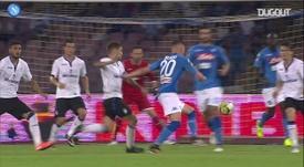 Zielinski started Napoli's comeback v Atalanta in 2017. DUGOUT