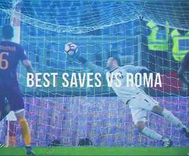 Samir Handanovic has made some terrific stops for Inter Milan at Roma. DUGOUT