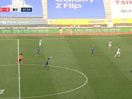 Ko Seung-beom scored a great goal for Suwon on matchday two in the K-League. DUGOUT