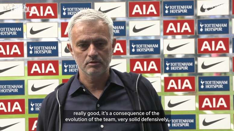 Mourinho gives thoughts on the game. DUGOUT