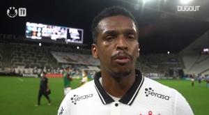 Jô comemora vitória do Corinthians. DUGOUT