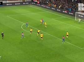 Le premier but de Jordan Ayew à Crystal Palace. DUGOUT