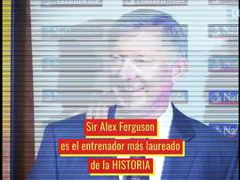 Sir Alex Ferguson es historia viva del United. Dugout