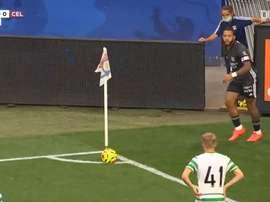 Lyon beat Celtic 2-1. DUGOUT