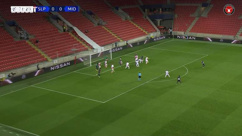 FC Midtjylland hold Slavia Prague. DUGOUT