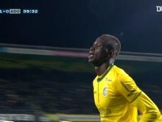 Amadou Ciss earns Fortuna all three points vs ADO Den Haag. DUGOUT