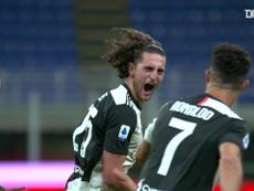 Il primo goal di Rabiot con la Juventus. Dugout
