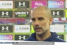 Guardiola lamenta falta de consistência do City em 2019/20. AFP