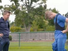 La première séance d'entraînement de Werner avec Chelsea. Dugout