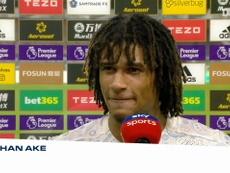 Las primeras palabras de Aké tras debutar con el City. Captura/Dugout