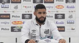 Felipe Jonatan vibra com assistência na vitória do Santos. DUGOUT