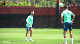 Flamengo continued to train. DUGOUT