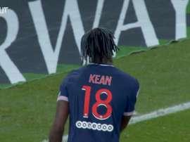 Moise Kean's goal vs Lorient. DUGOUT