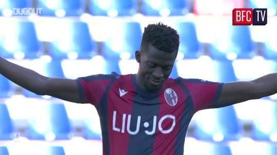 Musa Barrow has been in great form since joining Bologna in January. DUGOUT