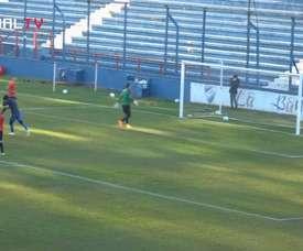 Thiago Vecino marcó en el triunfo ante Deportivo Maldonado. DUGOUT