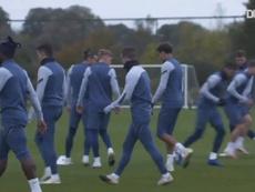 Tottenham prepare for their trip to Antwerp. DUGOUT