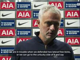 Jose Mourinho spoke about Spurs shock draw. DUGOUT