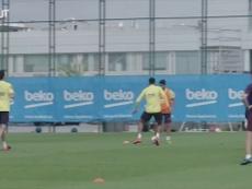 Messi muestra su calidad en la sesión. DUGOUT