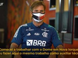 Jordi Guerrero, auxiliar de Domènec Torrent no Flamengo. DUGOUT