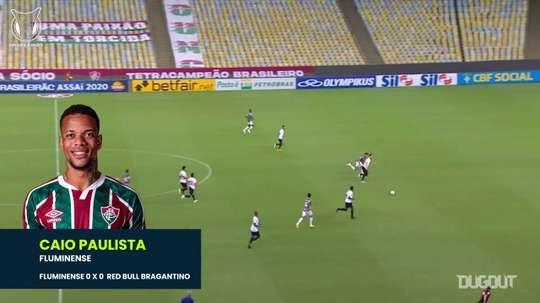 Il tunnel di Caio Paulista contro il Red Bull Bragantino. Dugout