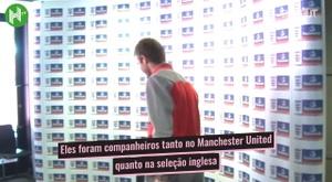 O reencontro de David Beckham e Phil Neville no Inter Miami. DUGOUT