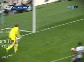Kevin De Bruyne: 100 Manchester City assists. DUGOUT