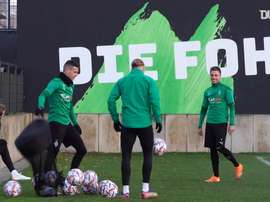 Borussia Mönchengladbach train before facing Shakhtar Donetsk. DUGOUT