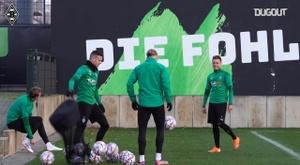 Borussia Mönchengladbach train before facing Shakhtar Donetsk. DUGOUT