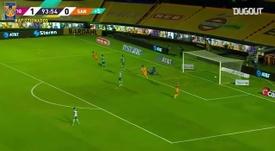 Le but de Nico López contre Santos. dugout