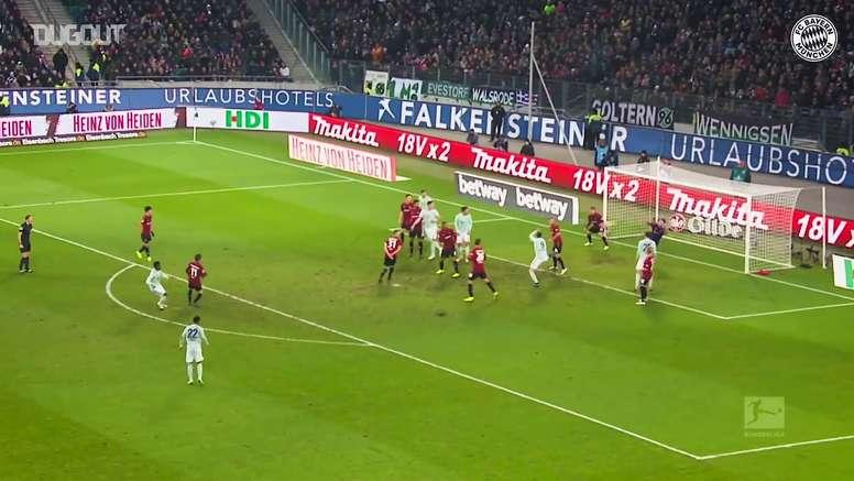 Gols de David Alaba pelo Bayern de Munique. DUGOUT