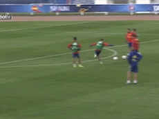 VIDEO: David De Gea's impressive saves in training with Spain. DUGOUT