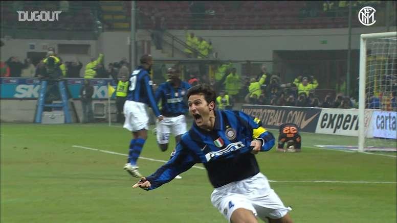 Il meglio di Zanetti con l'Inter. Dugout