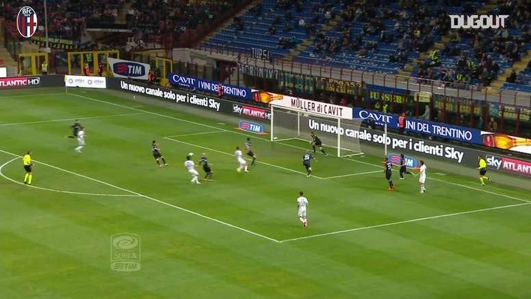 Bologna's best away goals against Inter. DUGOUT