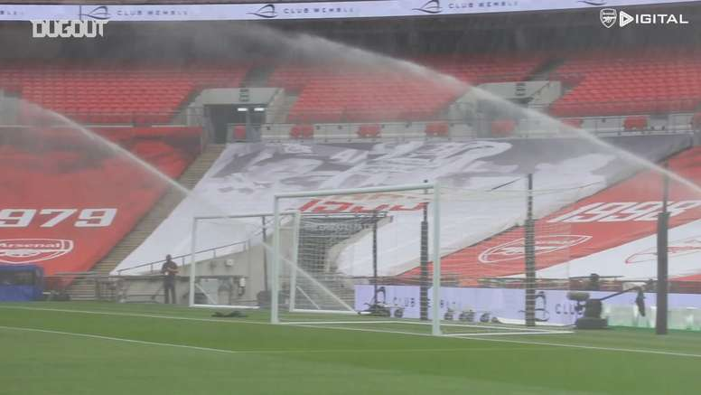Arsenal's FA Cup semi-final triumph over Man City. DUGOUT