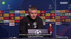 Solskjaer takes responsibility for Man United's Champions League exit. DUGOUT