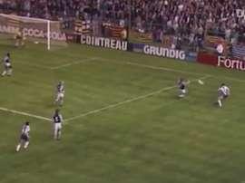 Noite mágica do Espanyol contra Brugge na Copa da Uefa. DUGOUT