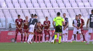 Ronaldo got his first free-kick goal for Juventus. DUGOUT