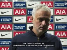 Mourinho falou após o empate do Tottenham com o West Ham. DUGOUT