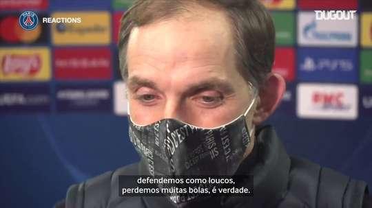 Tuchel fala após vitória do PSG na Champions. DUGOUT