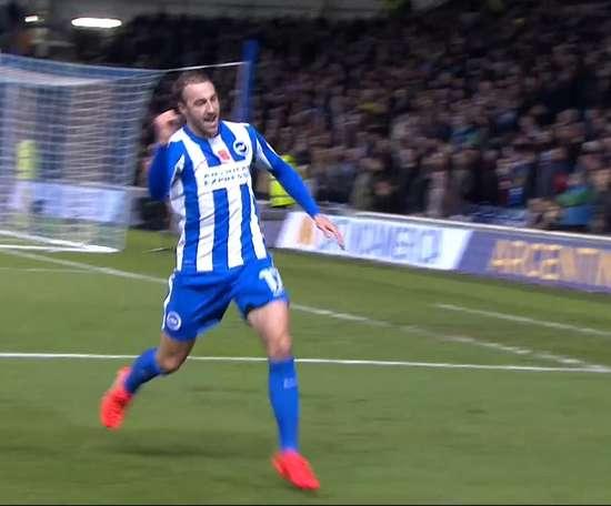 Glenn Murray scored as Brighton and Aston Villa drew 1-1. DUGOUT