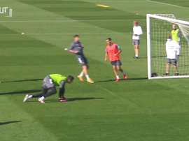 Real Madrid prepared for the league fixture with Huesca. DUGOUT